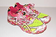 Asics Gel Noosa Tri 6 Pink Yellow White T163N Women's Running Shoes Sz 11
