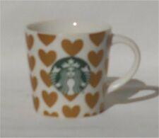 Starbucks 2015 Ceramic Hearts 3 Ounce Espresso Mug