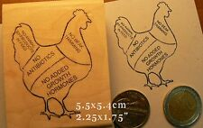 P64 Chicken rubber stamp
