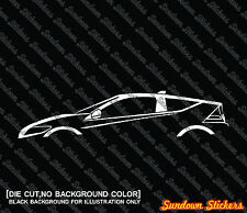 2X Car silhouette stickers - for Honda CR-Z sports  hybrid