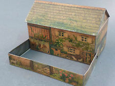 RARE FARM HOUSE  HUNTLEY AND PALMERS BISCUIT TIN, FOLD OUT WALL AND GATE