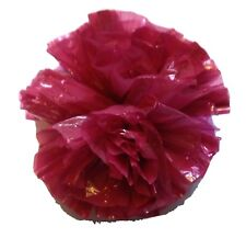 "25 Car Limo wedding Decoration Plastic Pom Poms Flower 4"" - burgundy"