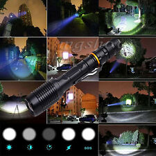 UltraFire 6000LM CREE XML T6 LED Flashlight 5-mode Zoomable Rechargeable Torch