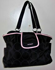 NEW CARTER'S BLACK/PINK BABY DIAPER BAG W/MEDELA BREAST MILK COOLER/NIPPLES NEW
