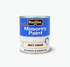 Rustins masonry paint cream quick drying smooth matt 500ml maspc500