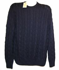 Canali Navy Men's Knitted Italy Wool Cashmere Sweater Size US 46 2XL EU 56 NEW