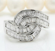 2.44CTW Natural VS2-SI1 / G-H DIAMONDS in 18K Solid White Gold Ring