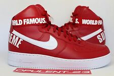 DS SUPREME NIKE AIR FORCE 1 HIGH VARSITY RED AF1 SP w/RECEIPT jordan SIZE 12