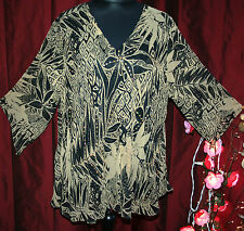 """QUIRKY 3XL ladies tunic top 54"""" bust ASYMMETRIC quirky lined XMAS or NEW YEAR"""