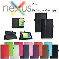 Custodia Case Cover Stand Pelle + Pellicola per Asus Google Nexus 7 2 II 2013