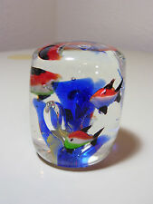 Murano ? Aquarium Art Glass Fish Paper Weight EUC