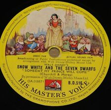 SNOW WHITE AND THE SEVEN DWARFS SOME DAY MY PRINCE WALT DISNEY 78 E+ MINT GRADE