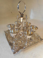 Silver Plate Egg & Spoon Cruet Set  ref 2776