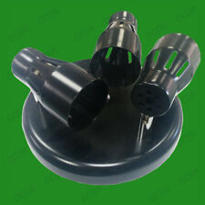 Mains Voltage Triple Spotlight on Round Plate, Low Energy GU10 Bulbs Included
