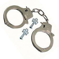 Metal Handcuffs Love Cuff Fancy Dress Policeman Policewoman Costume Hen Stag Es