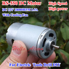 RS-550 Motor DC12V 18000RPM High Speed High Power Cooling Fan for Electric Drill