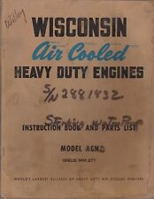 Wisconsin Engine Model AGN Parts & Operator's Manual