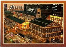 Postcard Quincy Market And Faneuil Hall Boston Massachusetts Mass Historic Trail