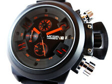 SUPERB Black Chronograph Military Steel Sport Welder Diver Style Boat Sub U TW