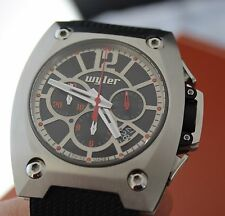 Rare & NEW Wyler CODE R Chronograph Automatic Watch. Wyler Genève Incaflex