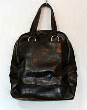 United Colors Of Benetton Black Large Tote Shopper Weekend Hand Bag Faux Leather