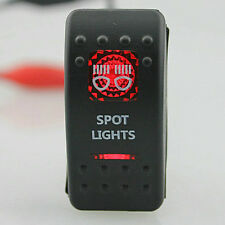 12V/24V Bar Carling Waterproof Rocker Toggle Switch Red LED Spot Lighted Car