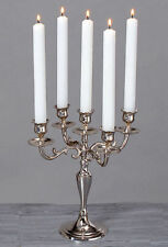 5 Arm Silver Candelabra Taper Candle Holders Chandeliers Wedding Centerpieces