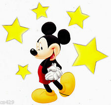 "4.5"" DISNEY  MICKEY MOUSE & STARS CHARACTER PREPASTED WALLPAPER BORDER CUT OUTS"