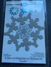 SIZZIX FRAMELITS 3 DIES SNOWFLAKE WINTER CHRISTMAS NEW SEALED