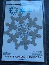 Sizzix Framelits troqueles Navidad Copo de Nieve Invierno 3 Nuevo Sellado