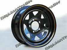 "New 14"" Sunraysia Rim Black HT Wheel Pattern White Truck Caravan Boat Trailer"