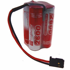 4.8V Vapex 2600mAh AA receiver SQUARE NiMH battery pack, Futaba