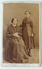 CDV PHOTO DE G BURLINCHON à LILLE MÈRE ET FILLE L943