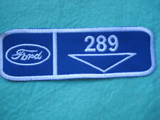 """Ford Mustang Falcon 289 Engine  Uniform Patch 5 3/8"""" X 1 3/4"""""""