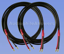 Straightwire Pro Special SC speaker cables 15' standard stereo pair NEW! Bananas