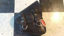 NEW La Rosa Harley Softail Right Side Swingarm Leather Saddle Bag Rustic Look