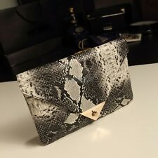 Women's Nice Clutch Purse Snakeskin Pattern Envelope Bag Vogue Evening Bag OK