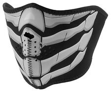 NEW Zan Bone Breath Glow in Dark Warm Neoprene Half Face Biker Motorcycle Mask