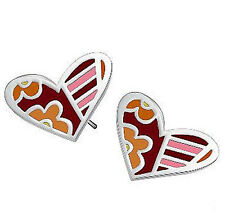 Stainless Steel High Quality Colourful Candy Modern Hearts Stud Earrings E68