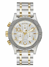 NEW Nixon A404 2187 The 38-20 Chrono Two Tone Women's Stainless Steel Watch