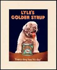 BRITISH BULLDOG PUPPY TREACLE ADVERT CHARMING DOG PRINT MOUNTED READY TO FRAME