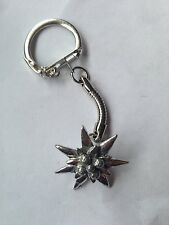 C21 Small Edelweiss  made of fine English Pewter on a snake keyring