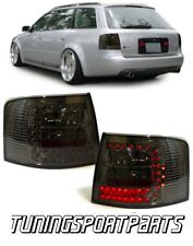 SMOKE REAR TAIL LED LIGHTS FOR AUDI A6 C5 97-05 AVANT LAMPS FANALE POSTERIORE