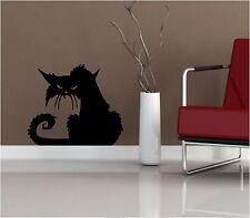 SPOOKY Black Cat Halloween Adesivo in Vinile Decalcomania Finestra grafica muro spaventosa Gatto BAT