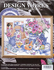 Design Works EAST MEETS WEST  Counted Cross Stitch Kit NIP Sealed Oriental Asian