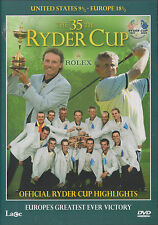 THE 35th RYDER CUP - Official Highlights (NEW DVD 2004)