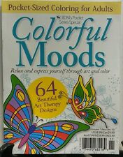 Colorful Moods Nov Dec 2016 Pocket Sized Coloring Book Adults FREE SHIPPING sb