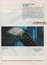 Publicité Advertising 1994 montre RADO