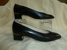 LADIES BALLY  BLACK AND GOLD SHOES UK 4E    MADE IN SWITZERLAND
