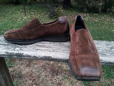 THERESIA M. MCS CAPRI G Brown Suede & Leather Womens Slip-On Shoes UK 4.5/US 6.5